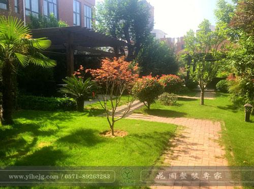 平顶山某乡村庭院景观绿化设计|别墅花园景观设计|庭院假山锦鲤池过滤改造系统