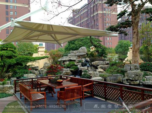 慈溪别墅花园景观设计|别墅庭院景观绿化|别墅花园假山水溪设计