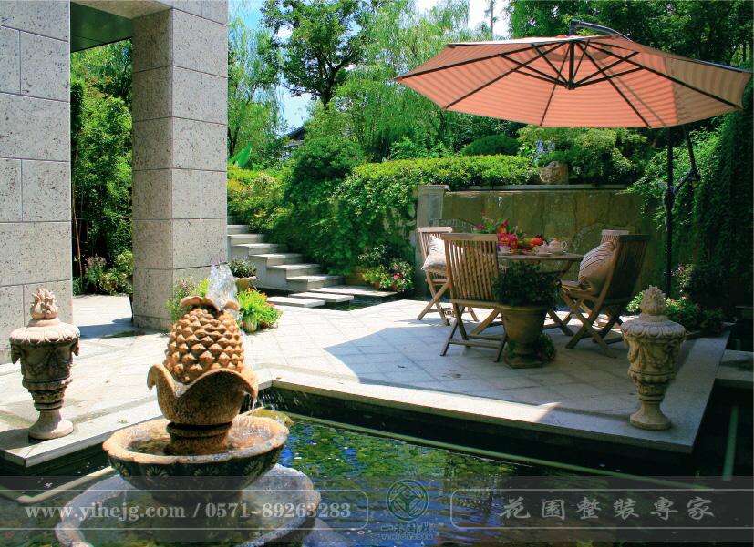 下沉式庭院景观设计|小庭院景观绿化施工|私家别墅花园景观设计