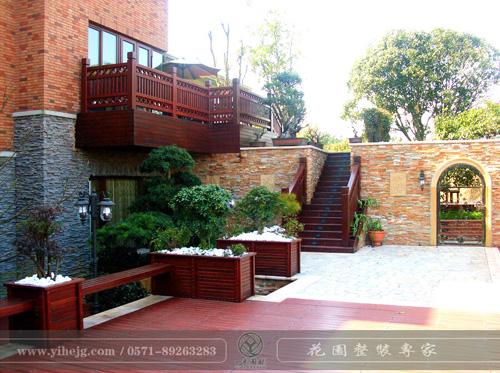 高尔夫高端别墅花园景观设计|小花园景观设计|别墅花园景观绿化施工