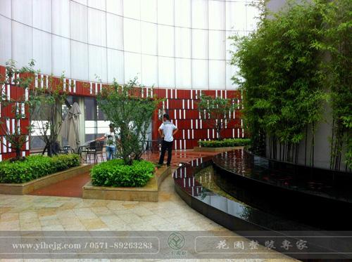 浙江省建设银行屋顶花园景观绿化|屋顶花园景观设计|屋顶花园景观施工