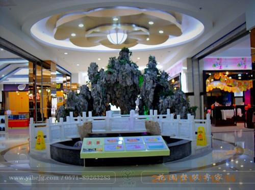 扬州力保广场假山水景|商场中庭景观设计|假山小品制作
